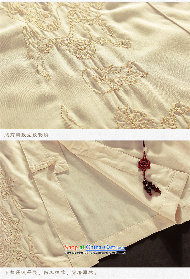 The OSCE, in the summer of 2015, the name of the older short-sleeved Tang dynasty male summer men summer Chinese embroidery national costumes grandpa summer father Han-T-shirt black聽185 pictures, prices, brand platters! The elections are supplied in the national character of distribution, so action, buy now enjoy more preferential! As soon as possible.