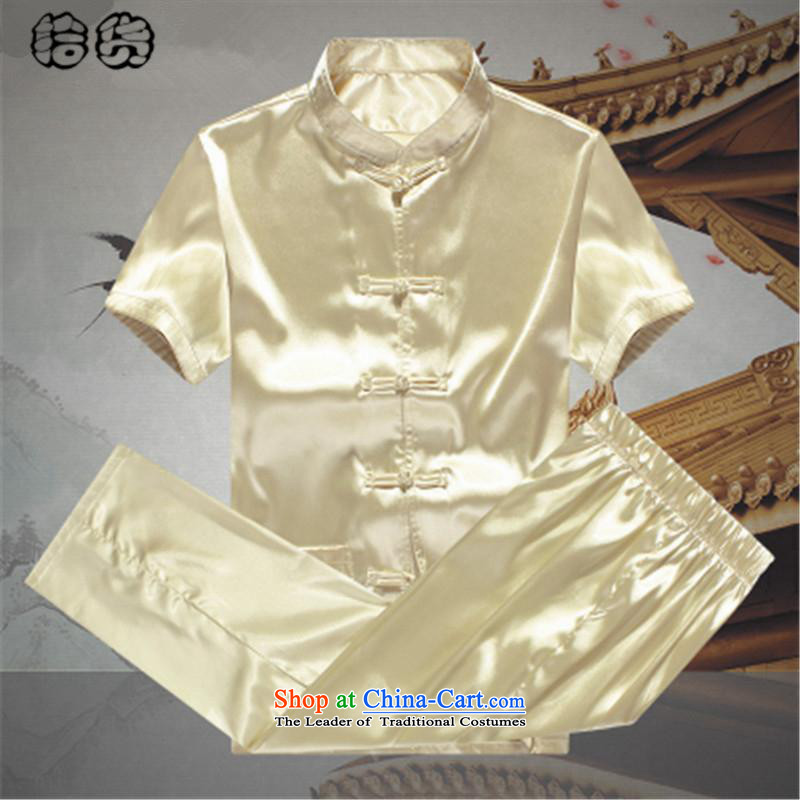 The name of the 2015 summer of the OSCE, men Tang Dynasty Package summer short-sleeved emulation silk of older persons in the elderly men's father and grandfather Tang dynasty China wind summer white聽180, OSCE, lemonade (ougening) , , , shopping on the In