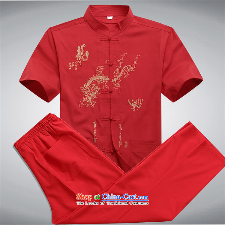 Hiv Rollet men in older men Tang Dynasty Package for summer short-sleeved father grandfather replacing deep blue middle-aged kit聽XXL/185 picture, prices, brand platters! The elections are supplied in the national character of distribution, so action, buy now enjoy more preferential! As soon as possible.