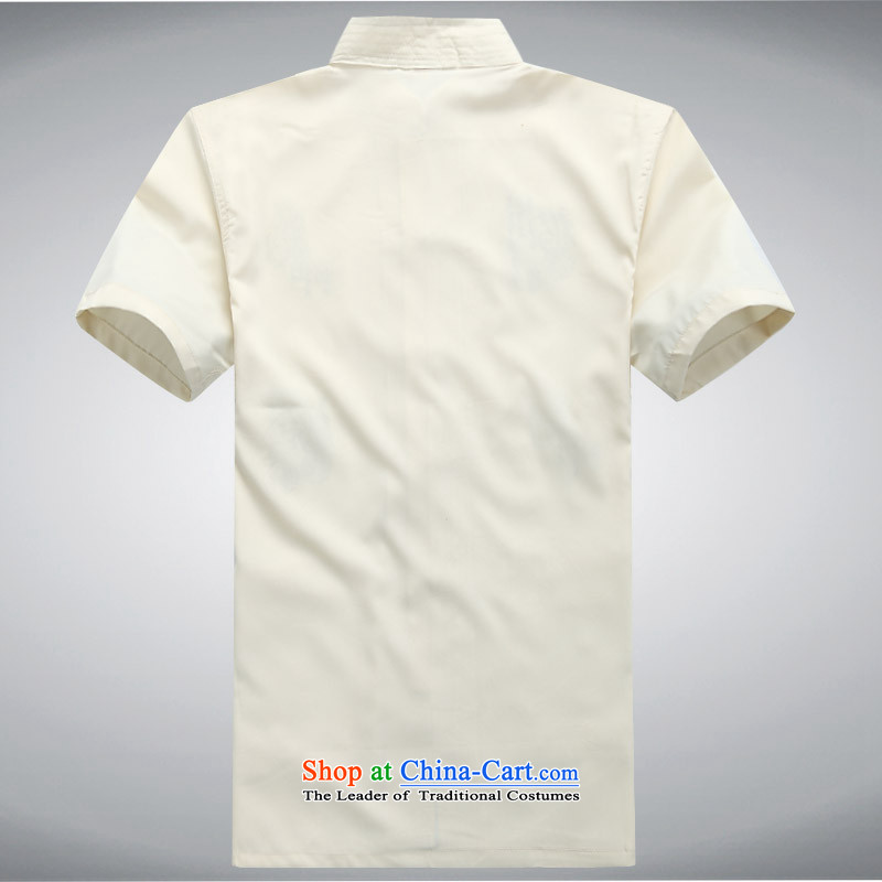 Hei concentric聽2015 Summer new products new breathable wicking short-sleeved lung Tang dynasty men Tang services shirt, beige聽XXL, Hei concentric , , , shopping on the Internet