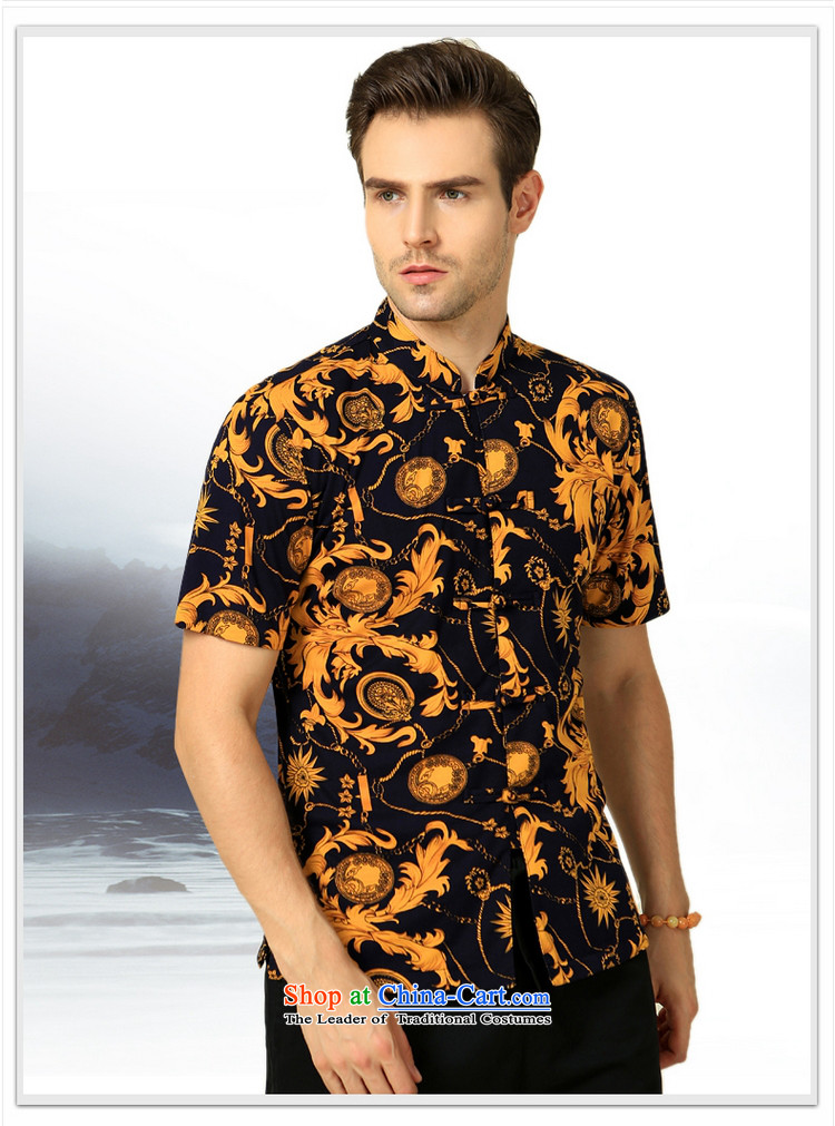 The Ocean 2015 summer cool new Sau San Stamp China wind men short-sleeved shirt Tang Dynasty Chinese tunic m cotton Satin White Flower聽170/M picture, prices, brand platters! The elections are supplied in the national character of distribution, so action, buy now enjoy more preferential! As soon as possible.