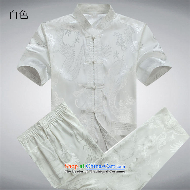 Kanaguri Mouse Tang dynasty male short-sleeve kit summer new short-sleeve packaged in Tang Dynasty older men exercise clothing Tai Chi Kit聽XL/180 services white picture, prices, brand platters! The elections are supplied in the national character of distribution, so action, buy now enjoy more preferential! As soon as possible.