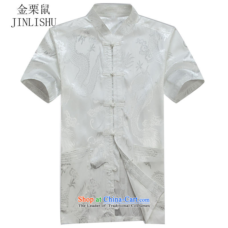 Kanaguri Mouse Tang dynasty male short-sleeve kit summer new short-sleeve packaged in Tang Dynasty older men exercise clothing Taegeuk Services White Kit聽XL/180, kanaguri mouse (JINLISHU) , , , shopping on the Internet
