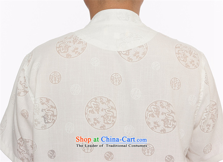 Kanaguri Mouse 2105 New Men Tang dynasty cotton linen short-sleeved T-shirt men short-sleeved Tang Dynasty Package boxed loose version disk father detained White聽XL Photo, prices, brand platters! The elections are supplied in the national character of distribution, so action, buy now enjoy more preferential! As soon as possible.