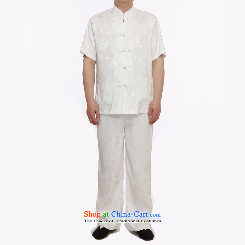 Kanaguri Mouse 2015 Summer men Tang Dynasty Package short-sleeved of older persons in the Men's Shirt Grandpa summer father White聽M