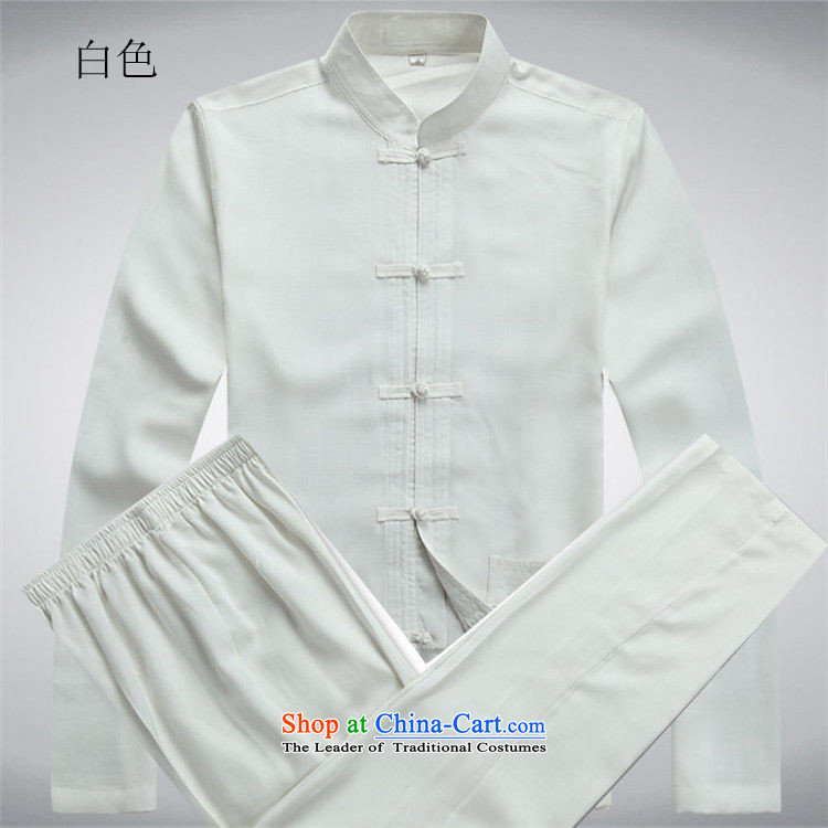 Kanaguri Mouse Suite Tang dynasty in long-sleeved older men middle-aged men Tang dynasty, relaxd light summer leisure China wind load grandfather replacing white father kit聽M picture, prices, brand platters! The elections are supplied in the national character of distribution, so action, buy now enjoy more preferential! As soon as possible.