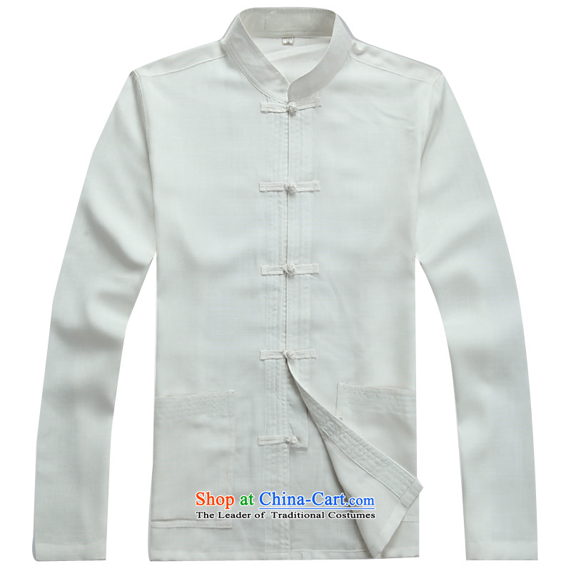 Kanaguri Mouse Suite Tang dynasty in long-sleeved older men middle-aged men Tang dynasty, relaxd light summer leisure China wind load grandfather replacing white father kit聽M kanaguri mouse (JINLISHU) , , , shopping on the Internet