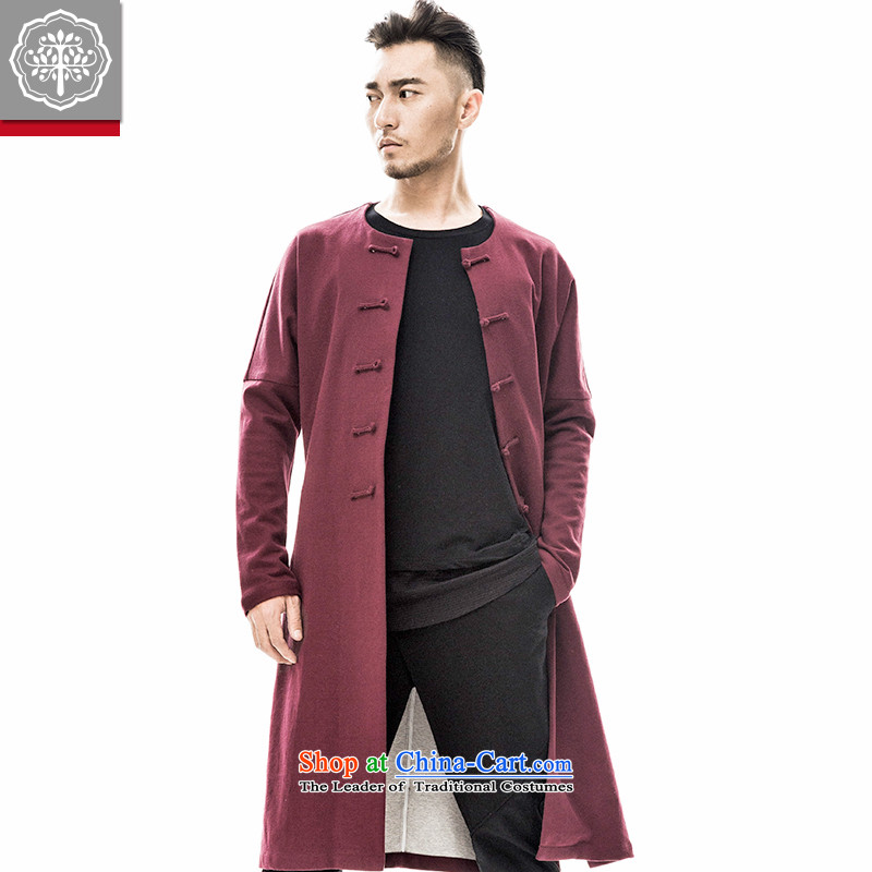 2015 Autumn and winter new means of Tang Dynasty Tree Han-improved long waves in the Autumn Chinese Jacket coat male China wind men Zeng Peiyan 175_L color