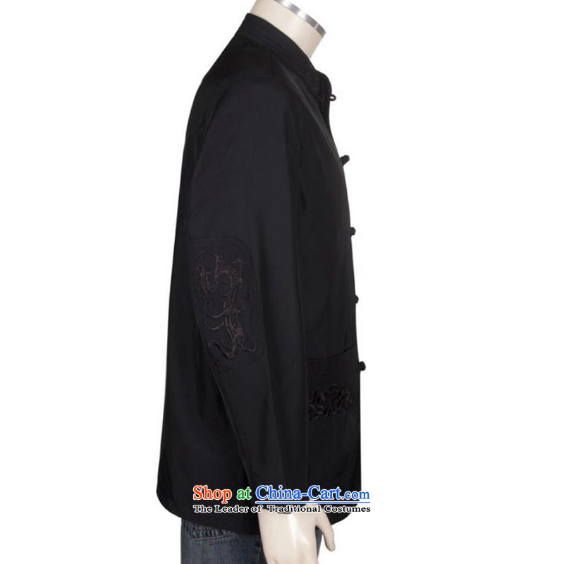 In line cloud collar disc detained men's middle-aged man Tang dynasty autumn and winter coats of ethnic Chinese long-sleevedDYD-1209dark blueline-L, Cloud (youthinking) , , , shopping on the Internet