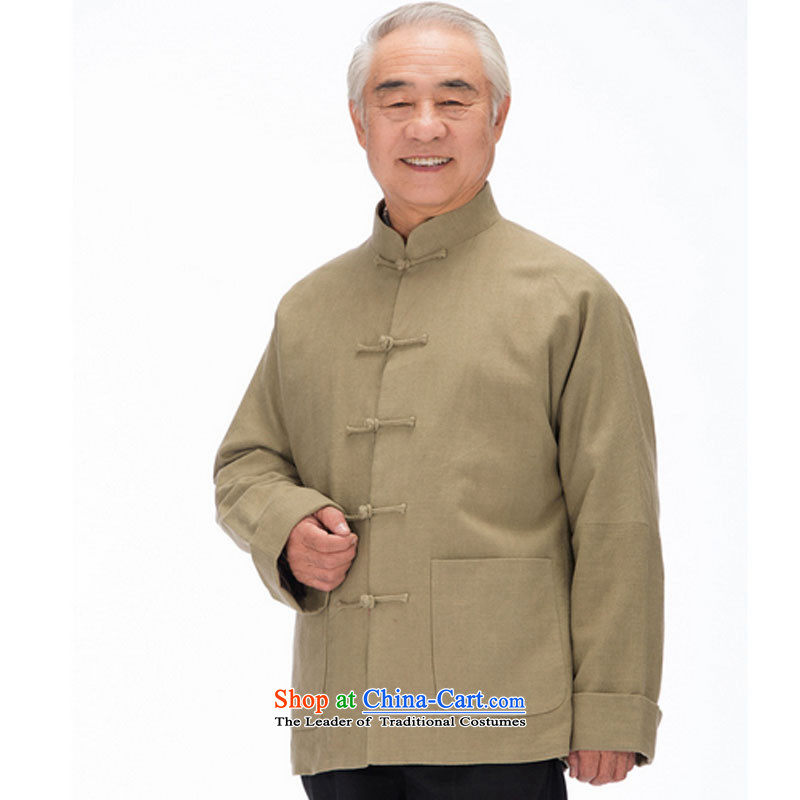 In line and long-sleeved Chinese leisure cloud in older men long-sleeved Tang dynasty thick winter jackets聽DY1320聽Yellow聽XL, stake line cloud (youthinking) , , , shopping on the Internet