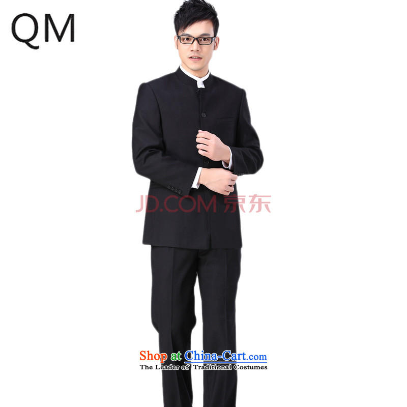 The end of the autumn and winter light Chinese tunic handsome Chinese tunic suit Chinese collar installed characteristics of national service students燴XS106燽lack jacket +� trousers, you can select pants 30 or 31