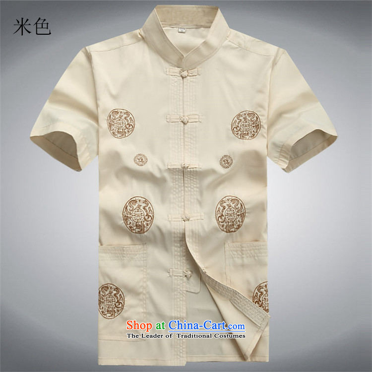 Beijing OSCE men Tang dynasty short-sleeve kit installed in the spring and summer of long-sleeved Tang dynasty older short-sleeve packaged jogs casual Kit Han-beige kit聽S/165 picture, prices, brand platters! The elections are supplied in the national character of distribution, so action, buy now enjoy more preferential! As soon as possible.
