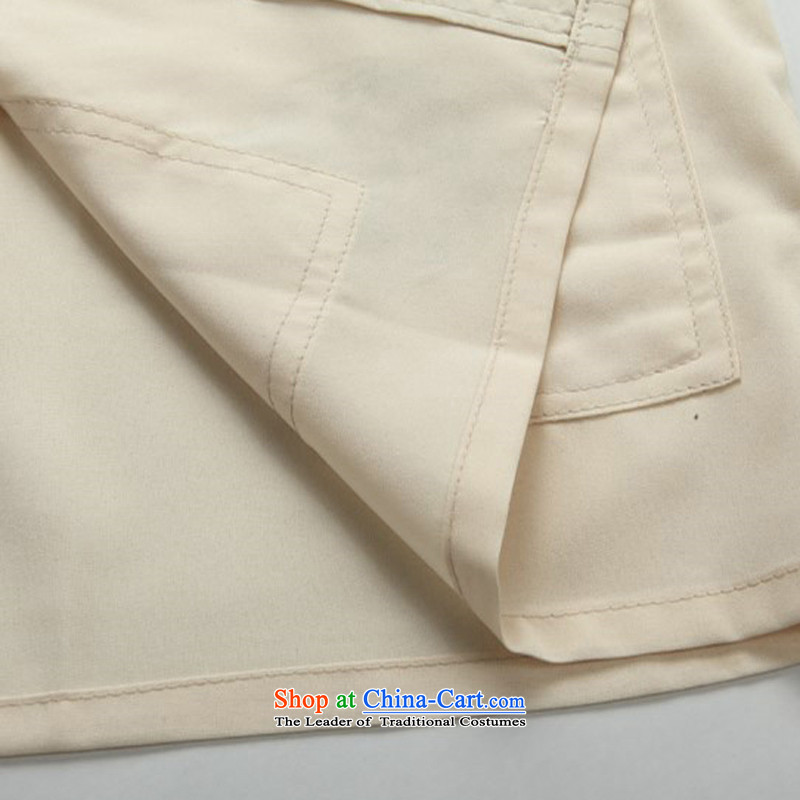Beijing OSCE men Tang dynasty short-sleeve kit installed in the spring and summer of long-sleeved Tang dynasty older short-sleeve packaged jogs casual Kit Han-beige聽S/165, kit (Beijing) has been pressed. OOH JOE shopping on the Internet