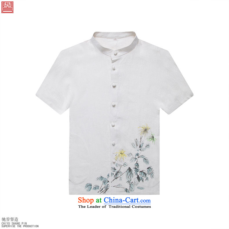 Renowned Tang replacing men's leisure printed cloth short-sleeved shirt linen china wind male cotton linen clothes men's summer light green XL Photo, prices, brand platters! The elections are supplied in the national character of distribution, so action, buy now enjoy more preferential! As soon as possible.