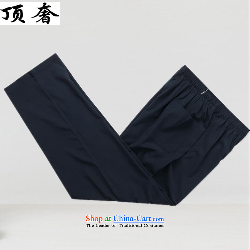 Top Luxury new summer, Tang Dynasty Men's Long-Sleeve men of older persons in the Han-China wind Long-sleeve cuff kit exercise clothing father Han-loaded blue packaged聽41/180, top luxury shopping on the Internet has been pressed.