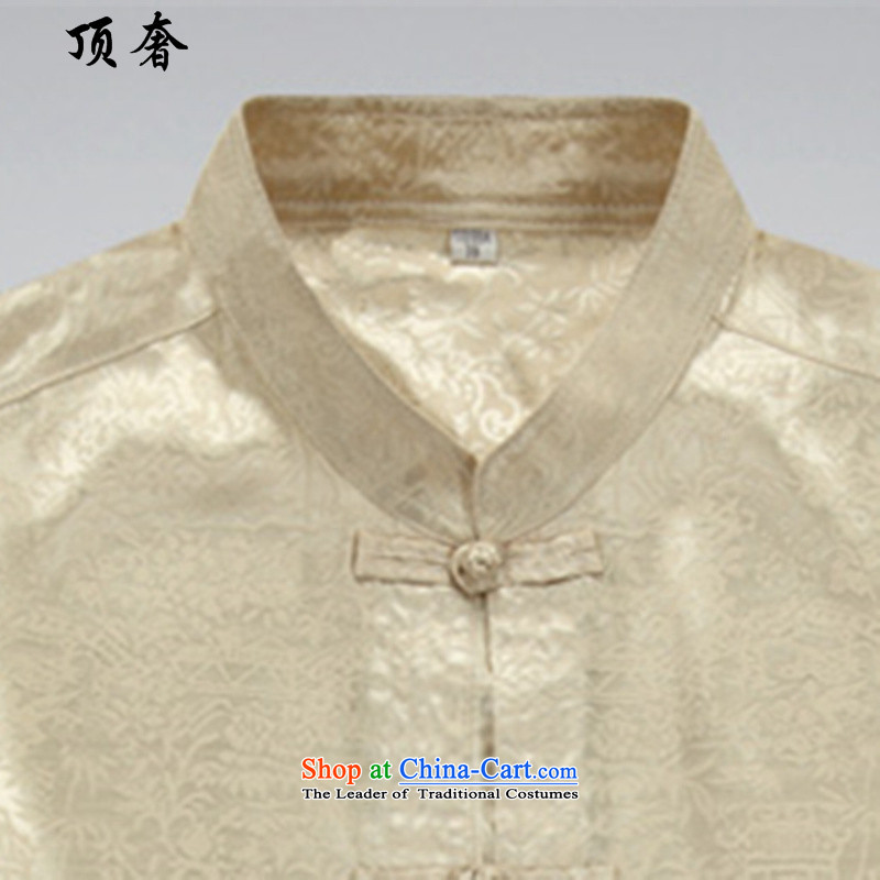 Top Luxury聽spring and autumn 2015 new long-sleeved Tang Dynasty Package Mock-neck Han-disc loose ties China wind from older version packaged tai chi Tang dynasty Mock-neck shirt, beige jacket聽43/190, top luxury shopping on the Internet has been pressed.