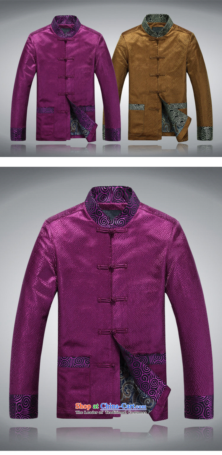 Top Luxury Tang dynasty 2015 Spring improved collar jacket men long-sleeved Tang dynasty China wind Men's Jackets Chinese Dress Casual Tang blouses purple shirt聽XXXL/190 picture, prices, brand platters! The elections are supplied in the national character of distribution, so action, buy now enjoy more preferential! As soon as possible.
