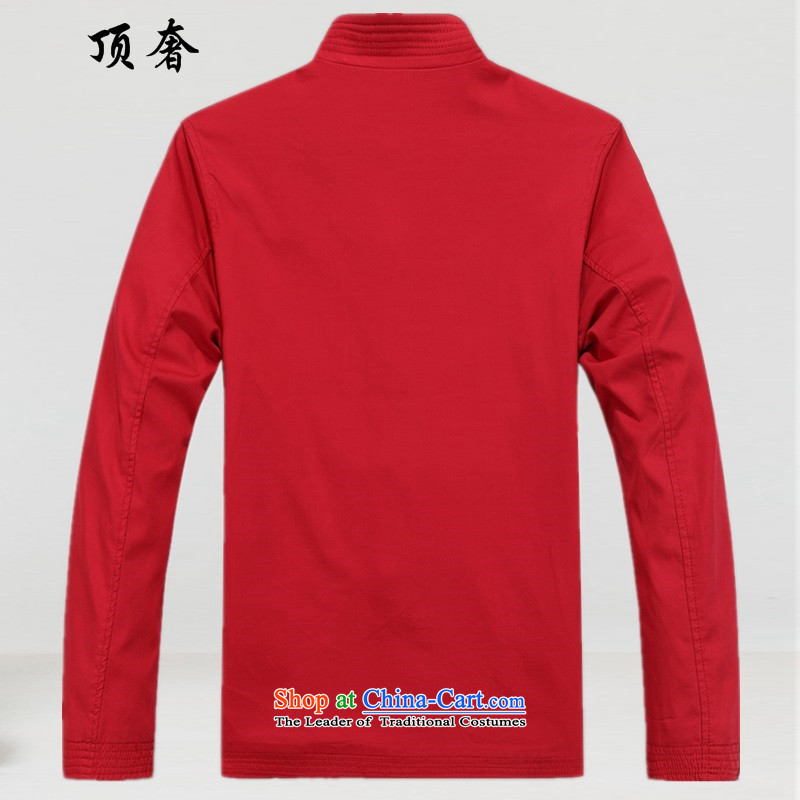 Top Luxury cotton Tang blouses collar loose version is detained China wind men Tang dynasty men red jacket over the life of Chinese Dress birthday of older persons in the red jacket Tang blouses聽XXL/185, top luxury shopping on the Internet has been presse