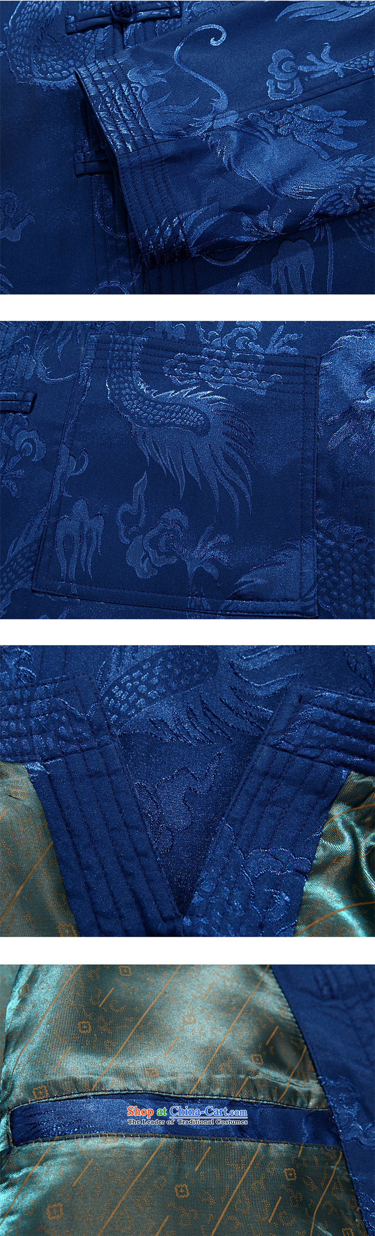 Top Luxury autumn and winter, Tang Dynasty Men's Mock-Neck disk pack detained Men's Shirt father in older Tang Jacket Chinese Blue Han-lady color kit聽M/170 picture, prices, brand platters! The elections are supplied in the national character of distribution, so action, buy now enjoy more preferential! As soon as possible.
