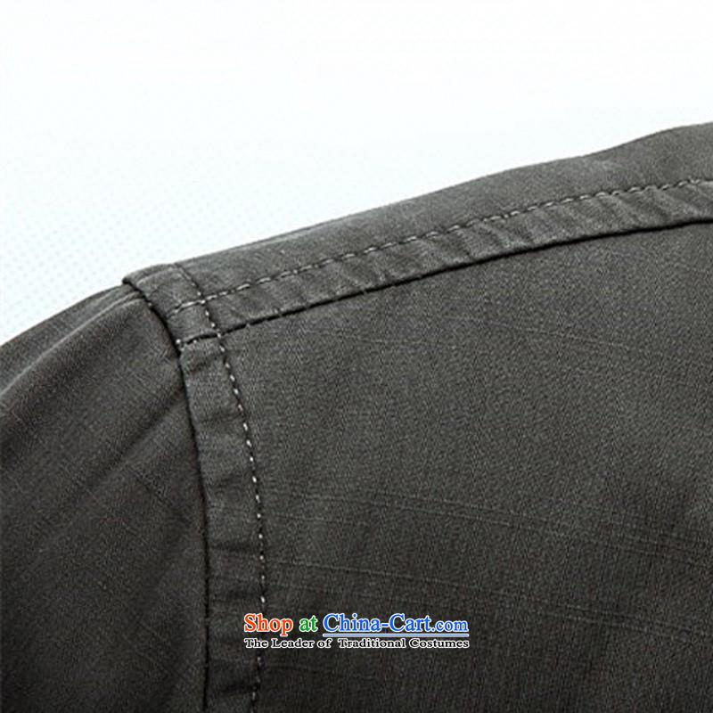 Kanaguri Mouse Tang dynasty Long-sleeve Spring New Men Tang jackets jacket聽, dark gray kanaguri mouse (JINLISHU) , , , shopping on the Internet