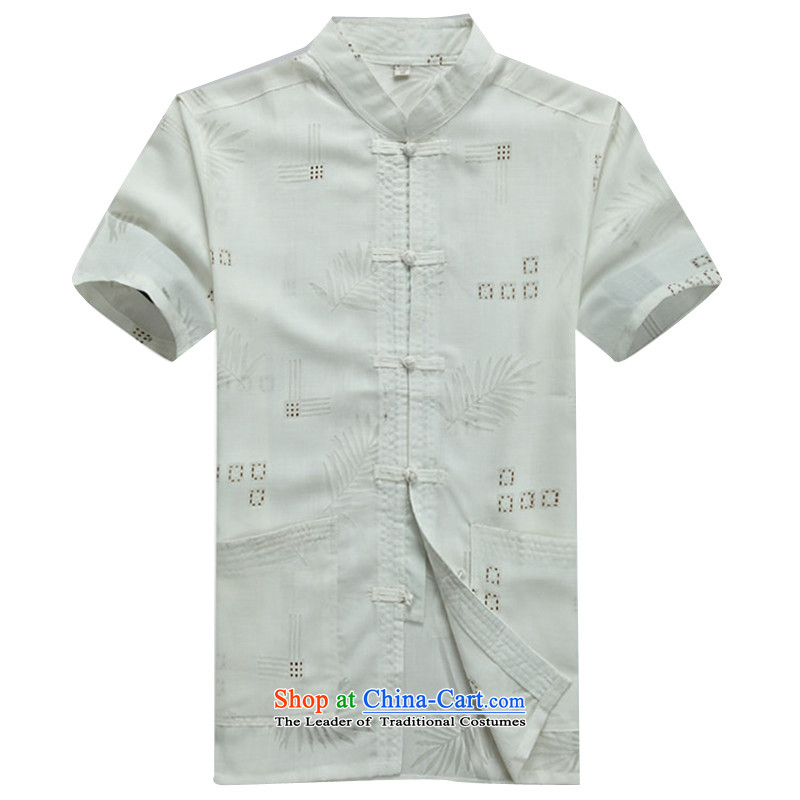 Beijing OSCE summer new products new China wind cool breathability wicking short-sleeved Tang dynasty men Tang Services white shirt?XL/180