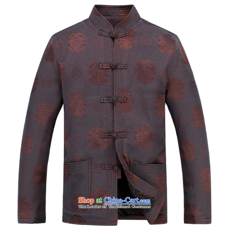 Kanaguri Mouse Tang dynasty long-sleeved men and New Men's Jackets jacket ethnic disc is older Tang blouses father jacket men Tang dynasty聽XXL/185, deep blue kanaguri mouse (JINLISHU) , , , shopping on the Internet