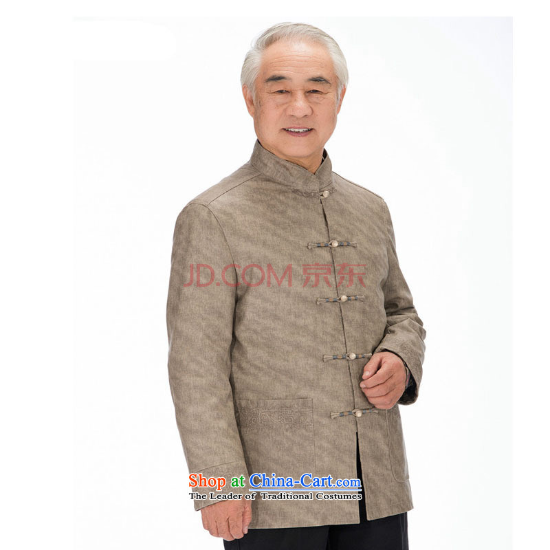 In line cloud Chinese improved grain Ma Man Korea washable leather Tang in older leisure PU jacket聽DY1322聽聽XXL, khaki-line (youthinking cloud) , , , shopping on the Internet