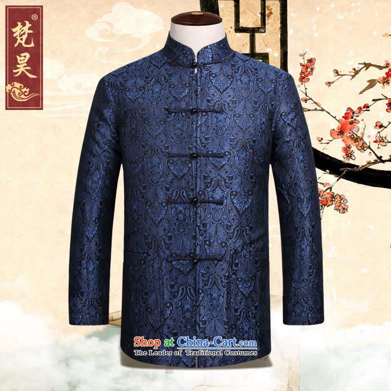 Van Gogh's new products and the fall of the Tang dynasty China wind retro-clip large older W827 Tang dynasty blue�4XL