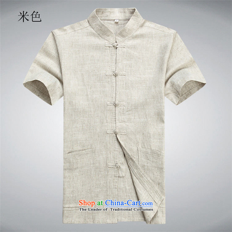 Beijing Europe Tang dynasty male short-sleeved T-shirt packaged new summer products men cotton linen in Tang Tang dynasty older short-sleeved father boxed packaged聽XXL/185 beige picture, prices, brand platters! The elections are supplied in the national character of distribution, so action, buy now enjoy more preferential! As soon as possible.