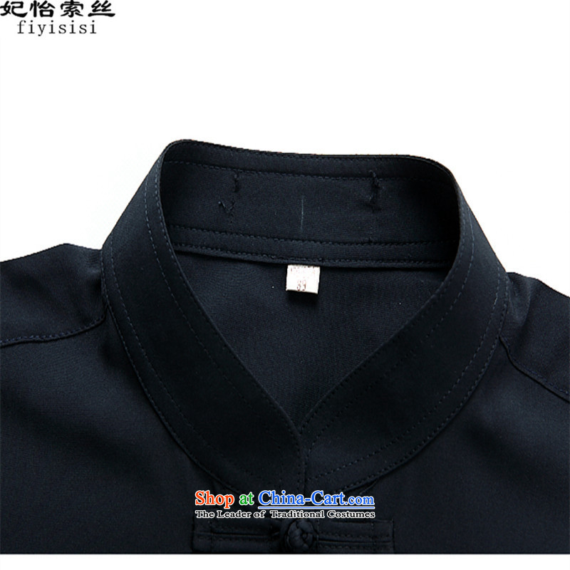 Princess in Selina Chow new long-sleeved men Tang Dynasty Package for the elderly men with elderly men's grandfather father Tang Dynasty Chinese Han-summer older persons short-sleeved blue Kit聽180, Princess Selina Chow (fiyisis) , , , shopping on the Inte