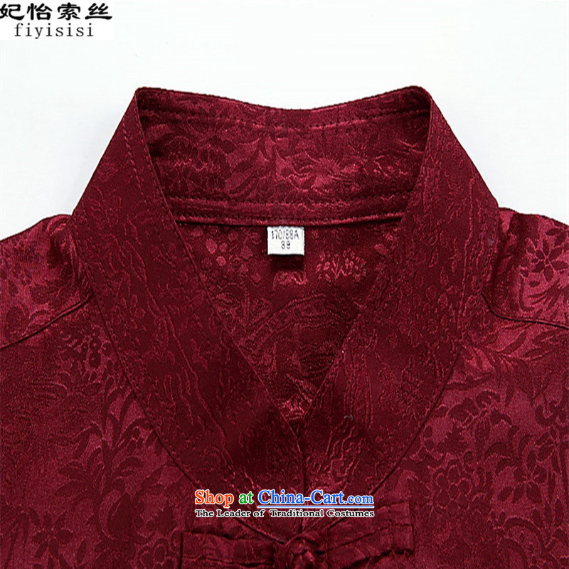 In聽2015, Princess Selina Chow short-sleeved men Tang Dynasty Package for the elderly father men long-sleeved clothes summer elderly grandpa spring and autumn clothes Grandpa Red Kit聽170, the princess Selina Chow (fiyisis) , , , shopping on the Internet
