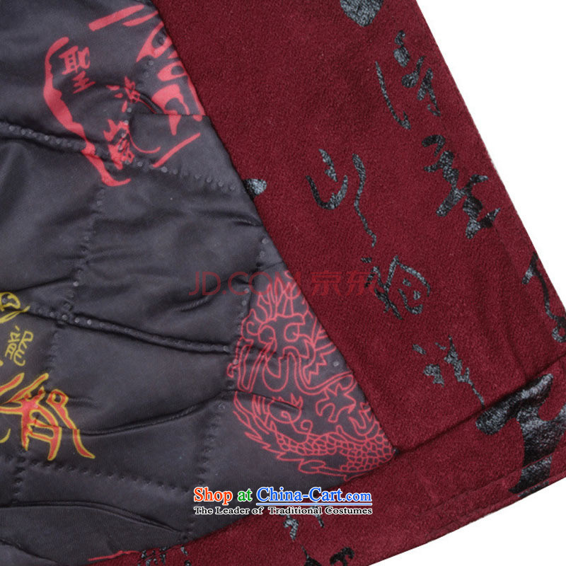 In line in winter. Older Tang Yun replacing men men of winter jackets for winter plus cotton Chinese cotton coat Fu Lu Shou聽DY0112聽聽XXL, deep red-line (youthinking cloud) , , , shopping on the Internet