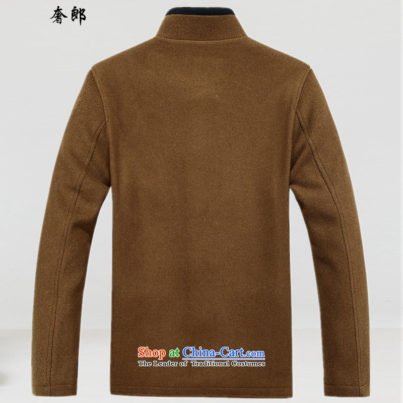 The luxury Health聽  15 year), Tang dynasty older men's jackets men Tang Jacket coat collar to intensify the upscale retro Tang dynasty yellow earth load father聽XL, luxury health , , , shopping on the Internet