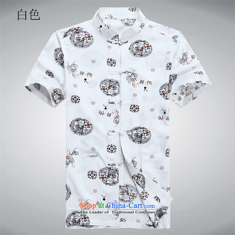 Kanaguri Mouse Tang dynasty male short-sleeved shirt with men, 2015 new semi-sleeved shirt collar Tang dynasty men Tang dynasty whiteXXXL/190 picture, prices, brand platters! The elections are supplied in the national character of distribution, so action, buy now enjoy more preferential! As soon as possible.