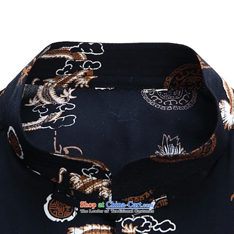 Kanaguri Mouse Tang dynasty male short-sleeved shirt with men, 2015 new semi-sleeved shirt collar Tang dynasty men Tang dynasty whiteXXXL/190, kanaguri mouse (JINLISHU) , , , shopping on the Internet