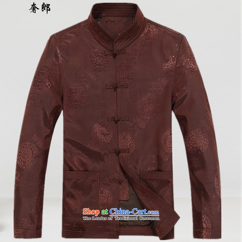 The luxury health in New Winter Jackets Tang older Men's Shirt cotton coat warm celebration for the elderly jacket jacket China wind collar to intensify the dress and color燲L