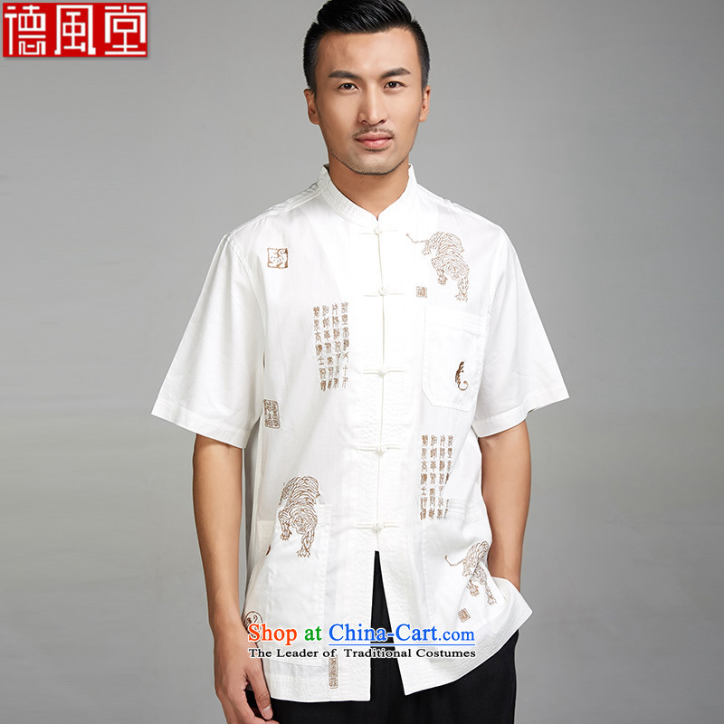 De-tiger fudo�2015 Summer New Men Tang dynasty short-sleeved ethnic Chinese clothing unreasonable pattern God Tiger�L