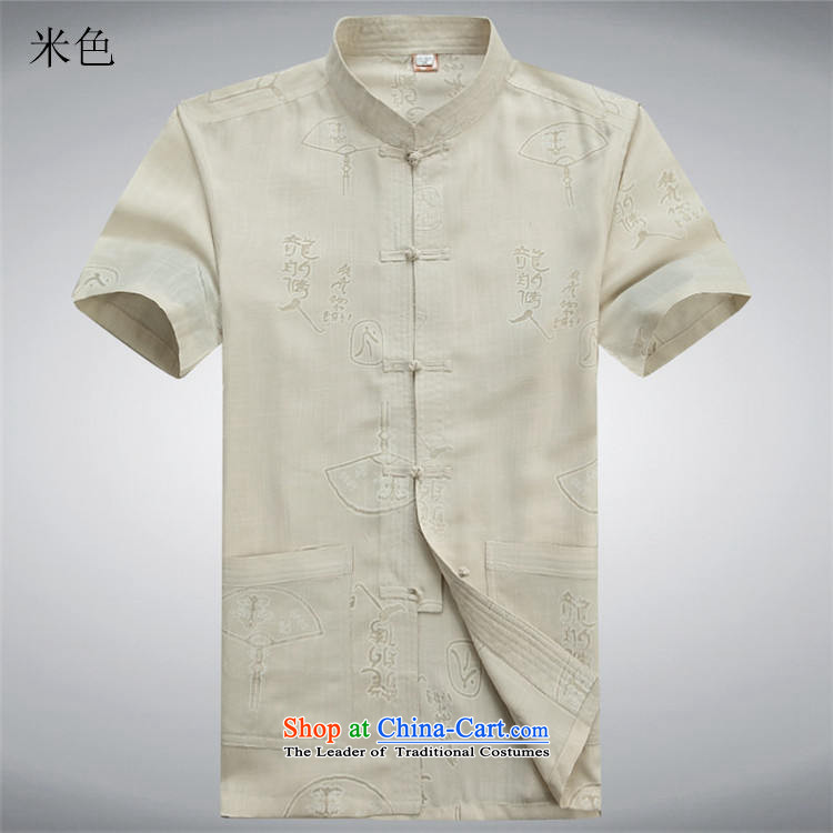 Beijing New OSCE Tang Dynasty Xia Men's older cotton linen Tang Dynasty Short-Sleeve Men with beige聽XL/180 father picture, prices, brand platters! The elections are supplied in the national character of distribution, so action, buy now enjoy more preferential! As soon as possible.