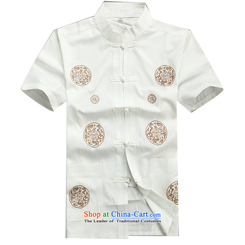 Beijing OSCE men summer new Tang dynasty short-sleeved Tang in older-Tang dynasty male short-sleeved Tang Dynasty Package White Kit M/170, Putin (JOE OOH) , , , shopping on the Internet