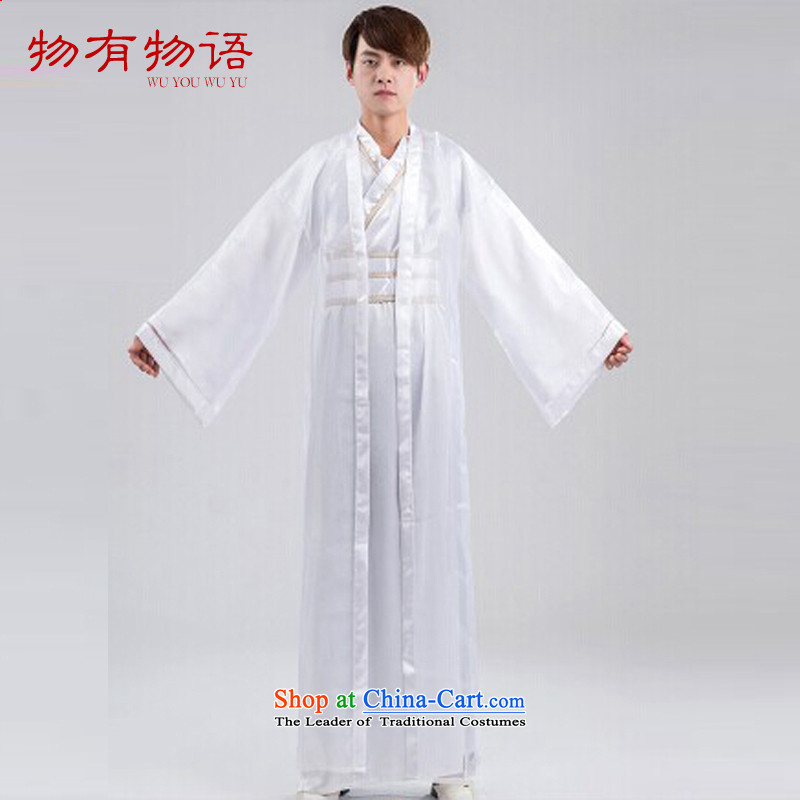 With a new Chinese Classical China wind musketeers errant errant ancient clothing Tang Dynasty Han-male boxers samurai ancient costumes and white are code
