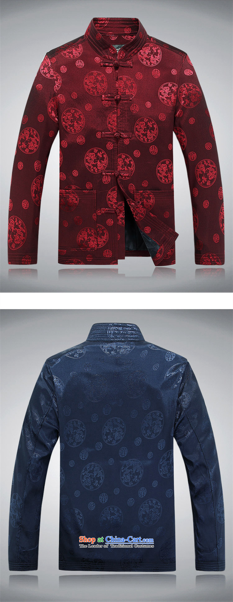 Alice Keci men of autumn and winter in Tang Dynasty Chinese tunic shirt jacket thickened older Han-chinese collar jacket improved national grandfather replacing ãþòâ blue L picture, prices, brand platters! The elections are supplied in the national character of distribution, so action, buy now enjoy more preferential! As soon as possible.