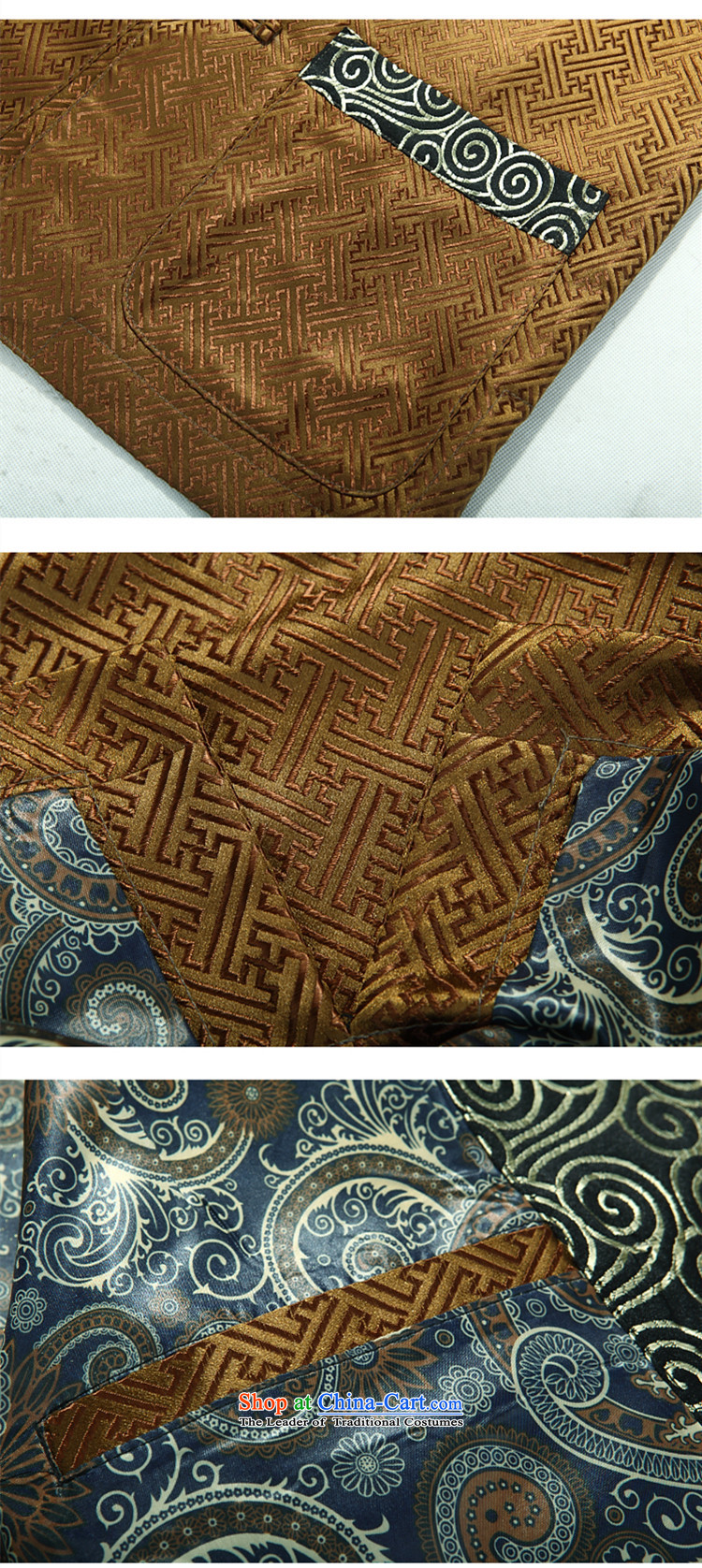 Alice Keci autumn and winter new Tang dynasty of older persons in the middle-aged long-sleeved shirt collar men men national costumes improved national birthday too life jackets gold XXXL picture, prices, brand platters! The elections are supplied in the national character of distribution, so action, buy now enjoy more preferential! As soon as possible.
