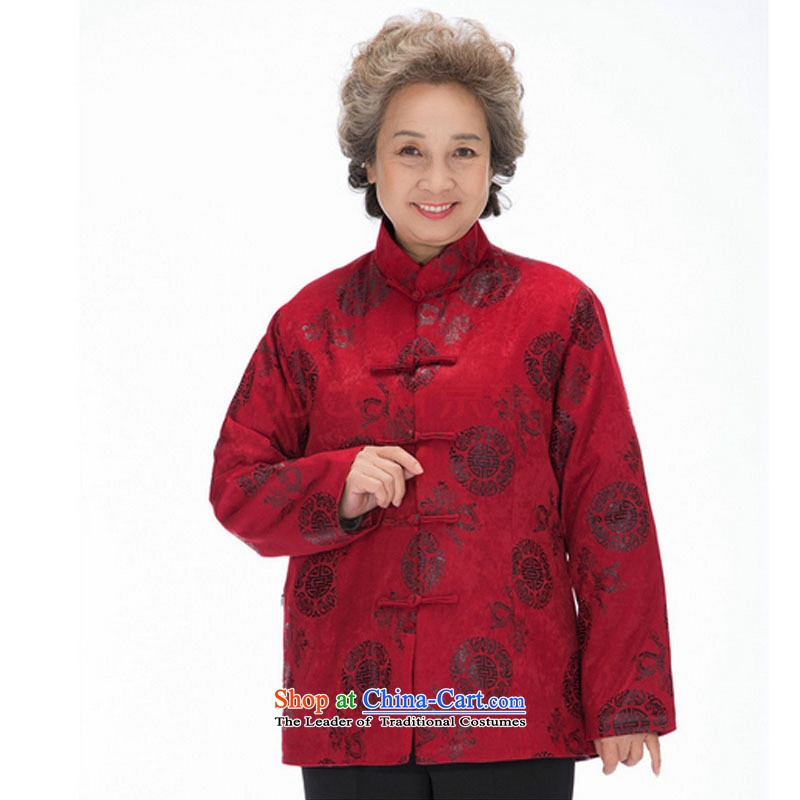 In line cloud ãþòâ older women and men in round Hee-ryong autumn and winter clothes for couples with thick coat with Mom and Dad combination of red, stake line DY0123 cloud (youthinking) , , , shopping on the Internet