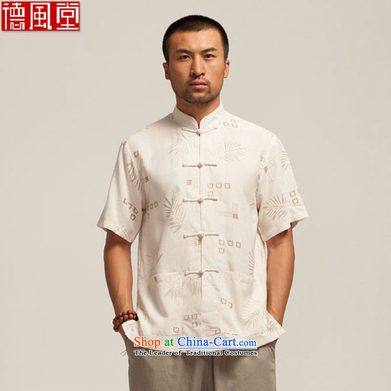 The amount of direct fudo de summer new cotton linen and Tang dynasty short-sleeved ethnic men manually disc detained Chinese clothing leaves the T?L