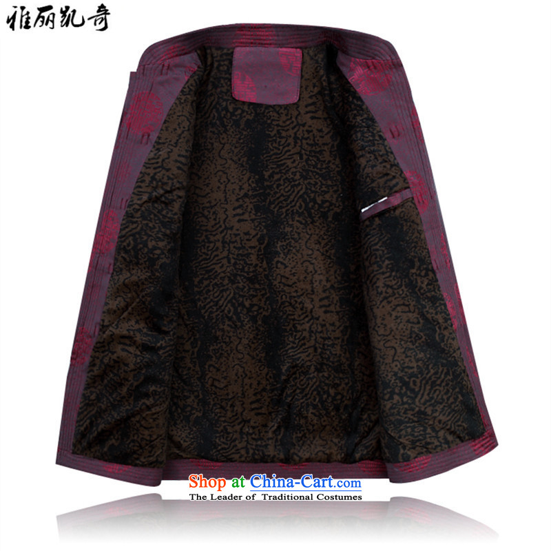 Alice Keci older men casual jacket Tang dynasty autumn and winter, men aged Chinese thick jacket thick Tang Dynasty Package improved national life too dress red T-shirt聽XXXL, Alice keci shopping on the Internet has been pressed.