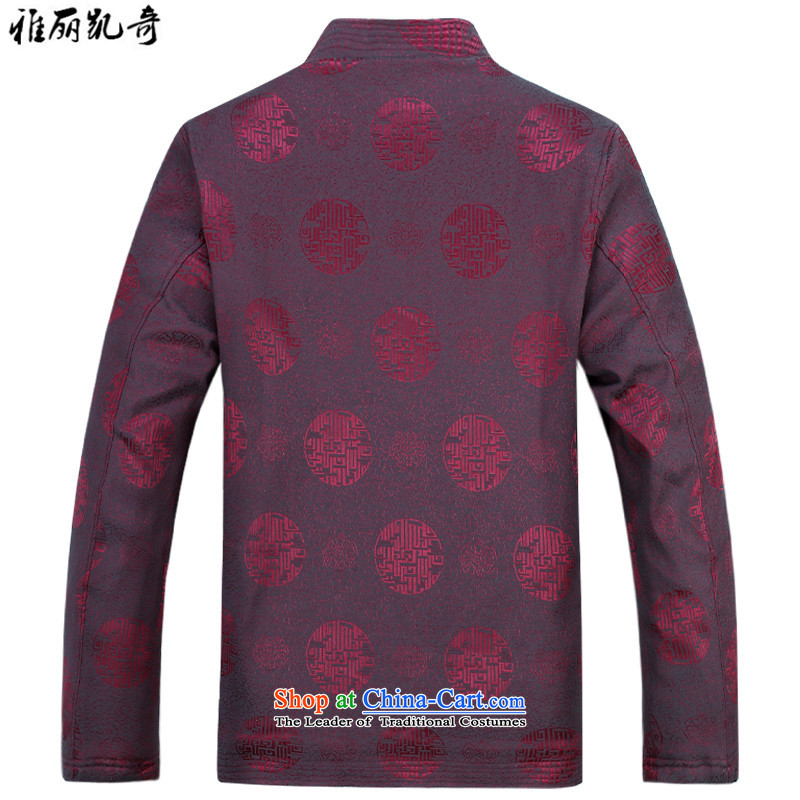 Alice Keci Tang jacket men in older Tang jackets Chinese collar older maximum code disk detained during the spring and autumn jacket coat improved national kit brown shirt kit plus pants聽XXL, Alice keci shopping on the Internet has been pressed.