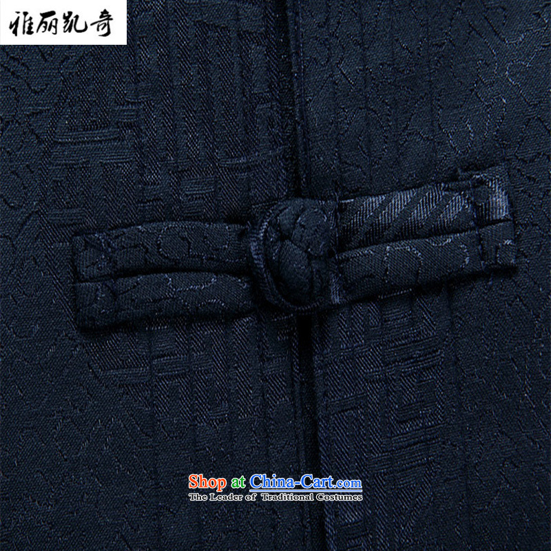 Alice Keci聽   15 years New Tang Dynasty Chinese clothing in older winter jackets for older Tang casual jacket filial Tang dynasty retro jacket dark blue聽XXL, Alice keci shopping on the Internet has been pressed.