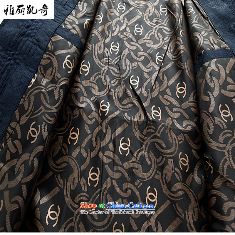 Alice Keci autumn and winter new Fu Shou of older persons in the Tang dynasty middle-aged men's Mock-neck long-sleeved blouses men national costumes and stylish Chinese red jacket XL, Alice keci shopping on the Internet has been pressed.