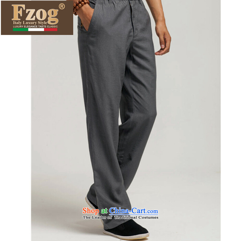 The new summer 2015 FZOG leisure men loose China wind gray long pants Tang dynasty breathability and comfort gray聽L,fzog,,, shopping on the Internet