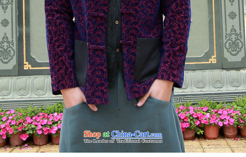 Jockeys Leopard health jacket men Tang dynasty 2015 Autumn New China wind collar disc tie long-sleeved stylish men designer brands cashew RED聽M picture, prices, brand platters! The elections are supplied in the national character of distribution, so action, buy now enjoy more preferential! As soon as possible.